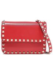 Valentino Garavani Woman Rockstud Leather Shoulder Bag Red