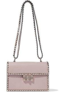 Valentino Garavani Woman Rockstud Leather Shoulder Bag Taupe