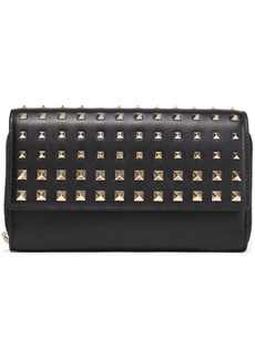 Valentino Garavani Woman Rockstud Leather Wallet Black