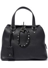 Valentino Garavani Woman Rockstud Pebbled-leather Tote Black
