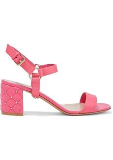 Valentino Garavani Woman Rockstud Spike Leather Sandals Bubblegum