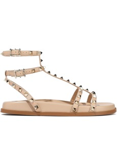 Valentino Garavani Woman Rockstud Leather Sandals Blush