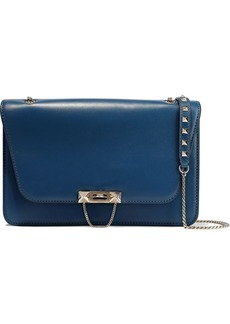 Valentino Garavani Woman Studded Leather Shoulder Bag Azure