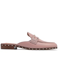Valentino Garavani Woman Soul Rockstud Leather Slippers Antique Rose