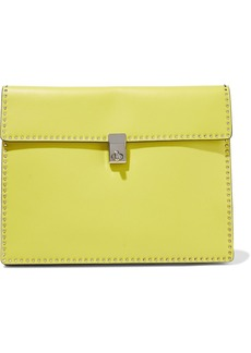 Valentino Garavani Woman Studded Leather Clutch Bright Yellow