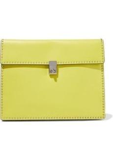 Valentino Garavani Woman Studded Leather Clutch Bright Yellow