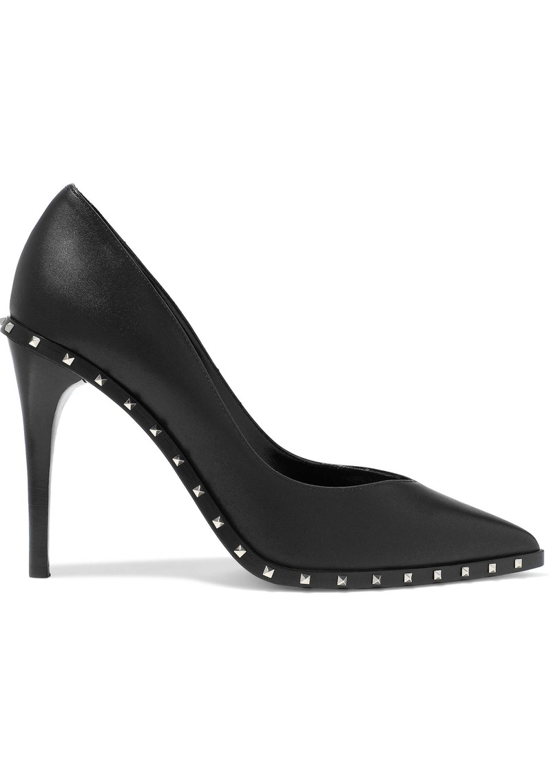 Valentino Garavani Woman Studded Leather Pumps Black