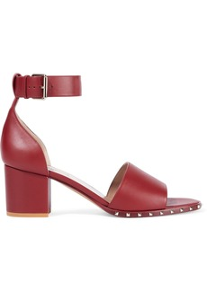 Valentino Garavani Woman Studded Leather Sandals Red