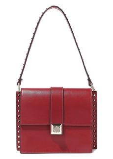 Valentino Garavani Woman Studded Leather Shoulder Bag Claret