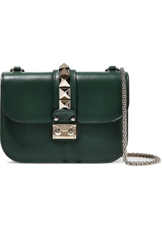 Valentino Garavani Woman Studded Leather Shoulder Bag Emerald