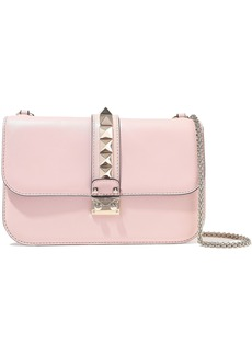 Valentino Garavani Woman Studded Leather Shoulder Bag Pastel Pink