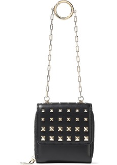 Valentino Garavani Woman Studded Leather Wallet Black