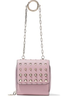 Valentino Garavani Woman Studded Leather Wallet Lilac
