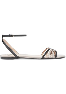 Valentino Garavani Woman Studded Leather Sandals Black