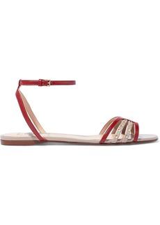 Valentino Garavani Woman Studded Leather Sandals Red