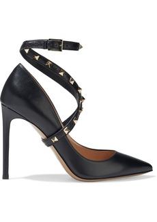 Valentino Garavani Woman Studwrap Leather Pumps Black