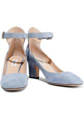 Valentino Garavani Woman Suede Mary Jane Pumps Sky Blue