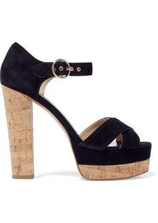 Valentino Garavani Woman Suede Platform Sandals Black