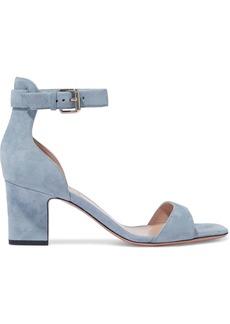 Valentino Garavani Woman Suede Sandals Light Blue