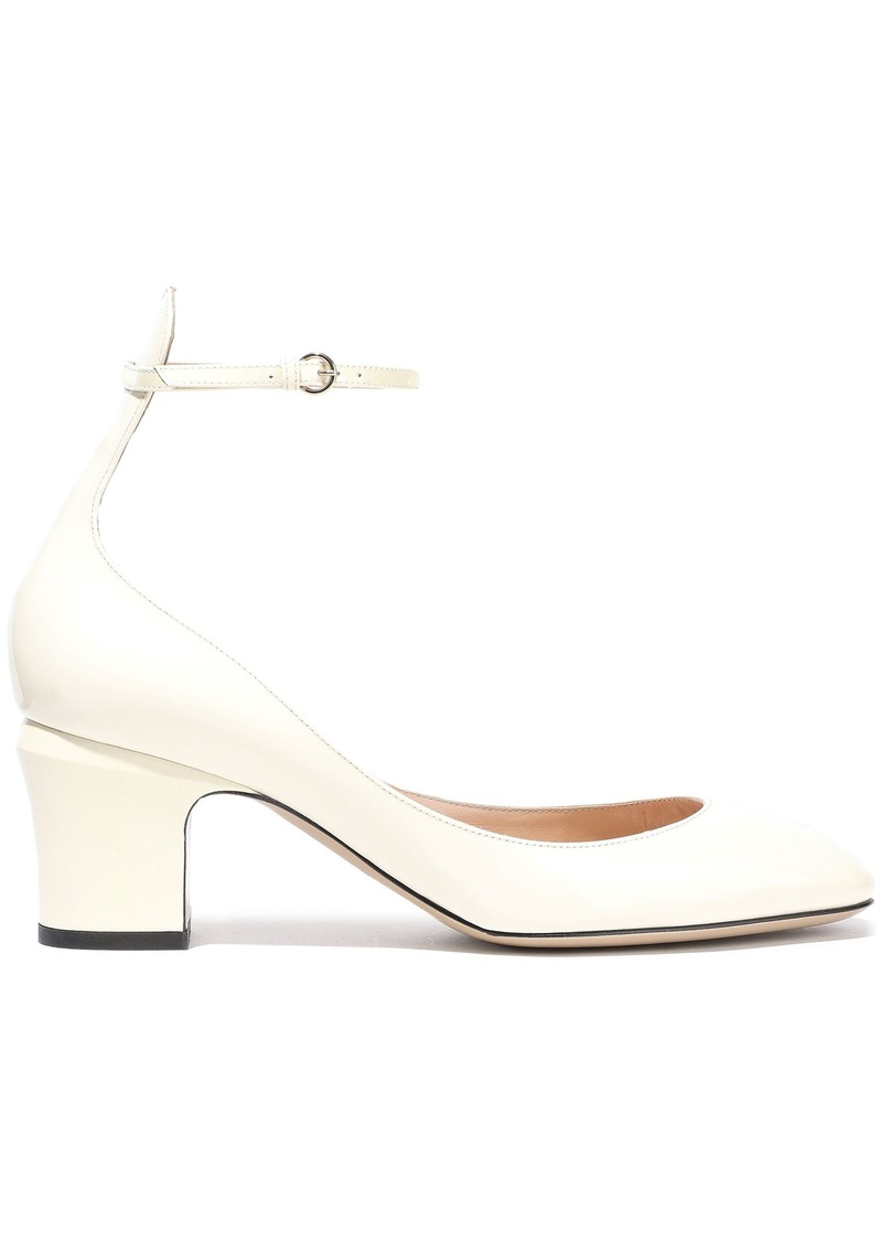Valentino Garavani Woman Tango Patent-leather Pumps Ivory