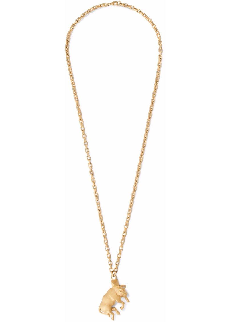 Valentino Garavani Woman Taurus Gold-tone Necklace Gold