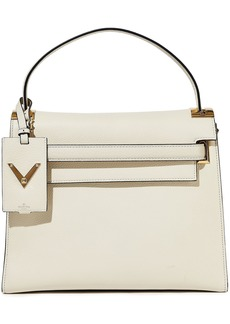 Valentino Garavani Woman My Rockstud Pebbled-leather Tote Ecru