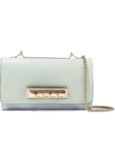 Valentino Garavani Woman Va Va Voom Color-block Leather Shoulder Bag Mint