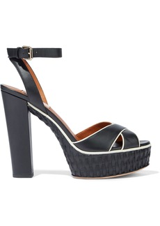 Valentino Garavani Woman Leather Platform Sandals Black
