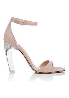 Valentino Garavani Women's Acrylic-Glass-Heel Suede Sandals