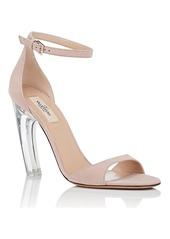 4271aa69f49c SALE! Valentino Valentino Garavani Women s Acrylic-Glass-Heel Suede ...