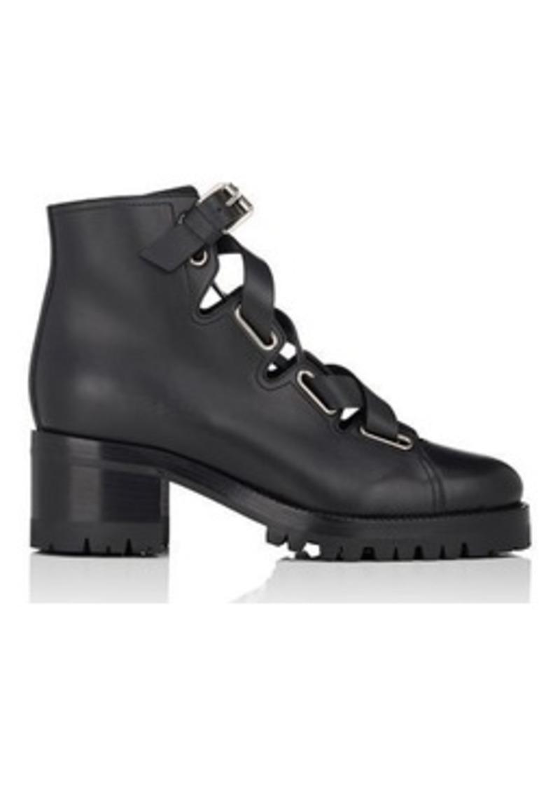 52b35a0bf46b Valentino Valentino Garavani Women s Leather Lace-Up Biker Boots