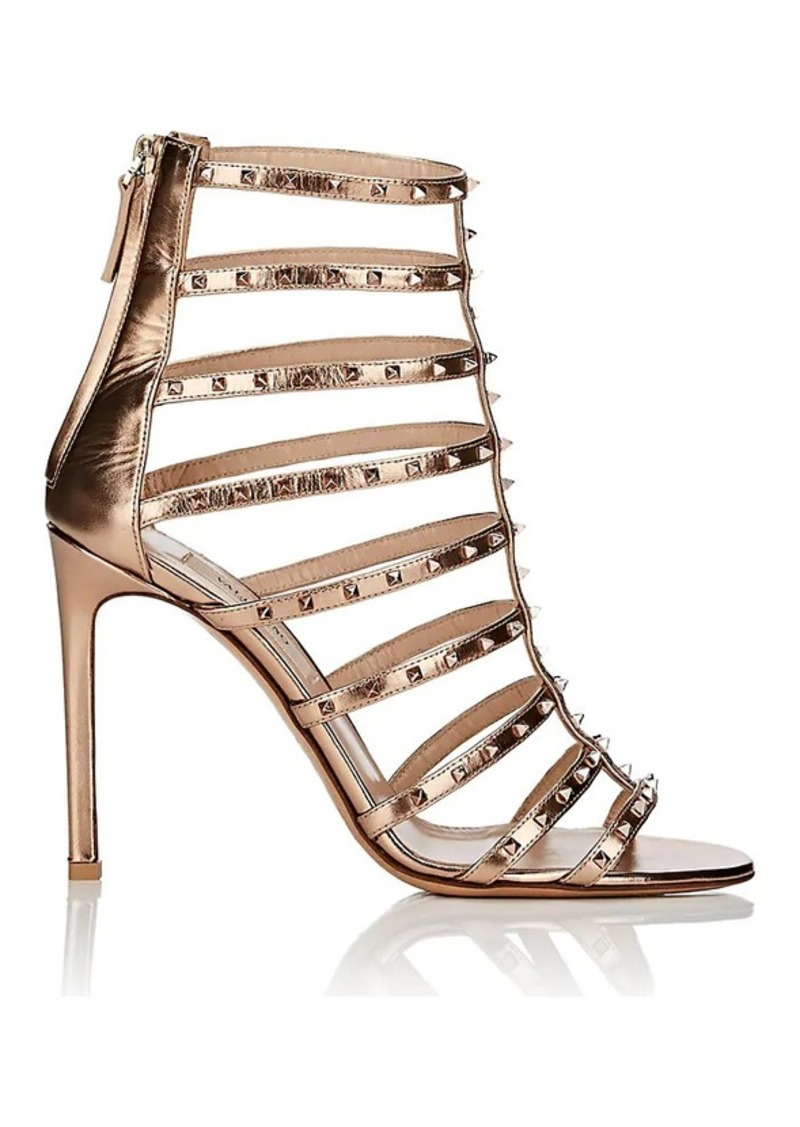 071863ba48b6 Valentino Valentino Garavani Women s Lovestud Metallic Leather Caged ...