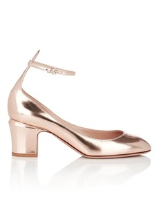 Valentino Garavani Women's Metallic Leather Ankle-Strap Pumps