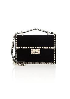 Valentino Garavani Women's No Limit Rockstud Small Velvet Shoulder Bag - Black
