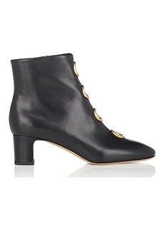 Valentino Garavani Women's Ornament-Embellished Leather Ankle Boots