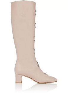 Valentino Garavani Women's Ornament-Embellished Leather Knee Boots