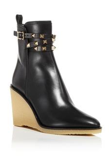 Valentino Garavani Women's Pointed Toe Wedge Booties