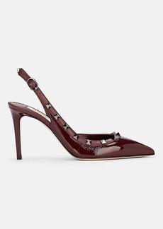 Valentino Garavani Women's Rockstud Leather Slingback Pumps