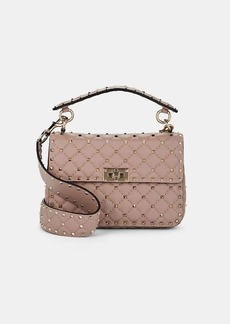 Valentino Garavani Women's Rockstud Medium Leather Shoulder Bag - Pink