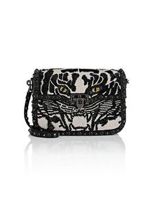 Valentino Garavani Women's Rockstud Medium Rolling Leather Shoulder Bag - Black