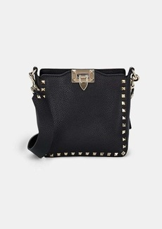 Valentino Garavani Women's Rockstud Mini Leather Hobo Bag - Black