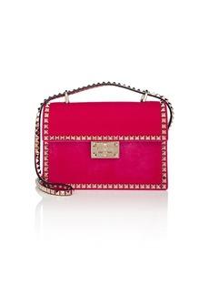 Valentino Garavani Women's Rockstud No Limit Small Velvet Shoulder Bag - Pink
