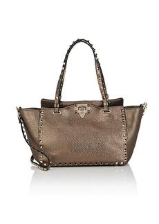 Valentino Garavani Women's Rockstud Small Leather Tote Bag - Gold