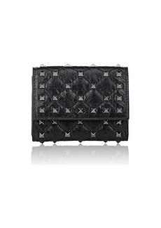 Valentino Garavani Women's Rockstud Spike Leather Folding Card Case