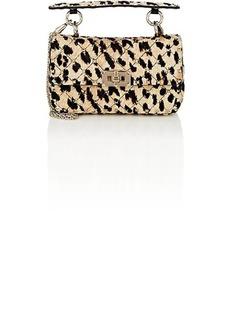 Valentino Garavani Women's Rockstud Spike Small Calf Hair Shoulder Bag - Brown