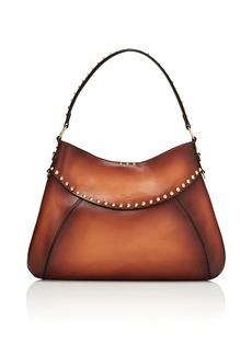 Valentino Garavani Women's Twinkle Studs Leather Hobo Bag - Brown