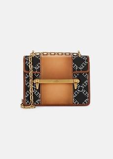 Valentino Garavani Women's Uptown Small Leather-Trimmed Crossbody Bag - Black