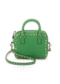 Valentino Garavani Zip Leather Top Handle Bag