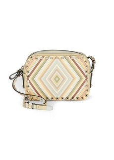 Valentino Garavani Zip-Top Leather Shoulder Bag