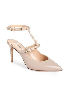 VALENTINO GARAVINI Rockstud Ankle Strap Pump (Women)